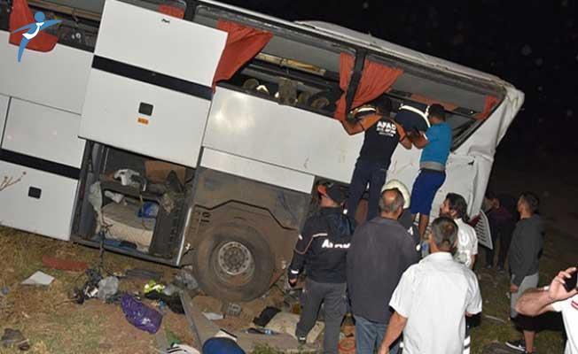 Aksaray Ankara Yolunda Polis Otobüsü Devrildi! Çok Sayıda Yaralı Var