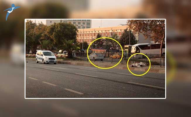 İstanbul'da İbretlik Kaza ! Otomobil Çarpan Vatandaş 50 Metre Sürüklendi