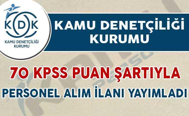 Kamu Denetçiliği Kurumu 70 KPSS Puan Şartıyla Personel Alım İlanı Yayımladı