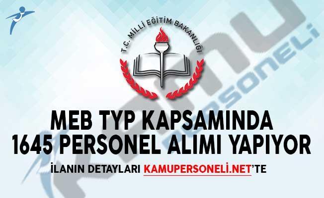 MEB TYP Kapsamında 1645 Personel Alımı Yapıyor!