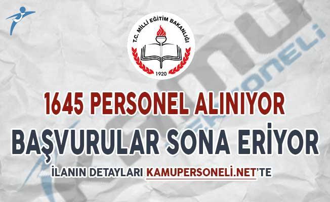 Milli Eğitim Bakanlığı (MEB) TYP Kapsamında 1645 Personel Alımı Başvuruları Sona Eriyor