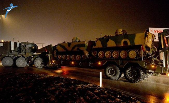 Suriye Sınırına Devam Eden Askeri Sevkiyat Kapsamında Araçlar Kilis'e Ulaştı