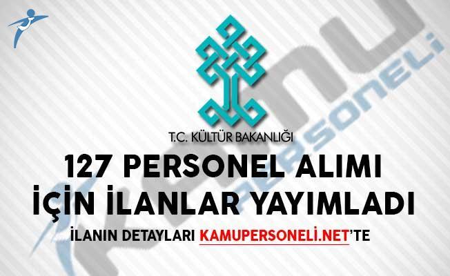 Yeni İlan! Kültür ve Turizm Bakanlığı 127 Personel Alımı Yapıyor
