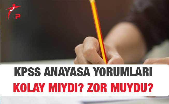 2018 KPSS Lise Anayasa Vatandaşlık Sınavı Soruları, Cevapları ve Yorumları