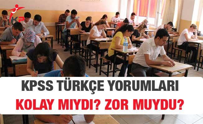 2018 KPSS Lise Türkçe Soruları, Cevapları ve Yorumları (Kolay Mıydı, Zor Muydu?)