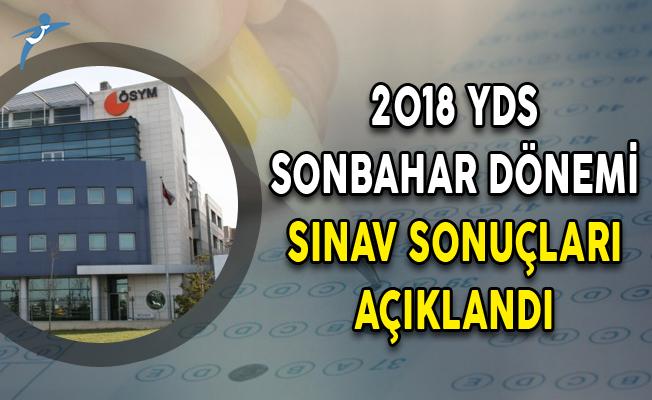 2018 YDS Sonbahar Dönemi Sınav Sonuçları ÖSYM Tarafından Açıklandı