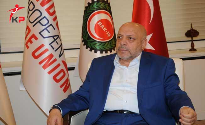 HAK İş Sendikası Başkanı Arslan'dan Asgari Ücrete Destek Talebi