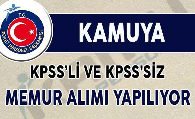Kamuya KPSS'li ve KPSS'siz Memur Alımı Yapılıyor (Kadroya Göre 8 Bin TL Maaş)