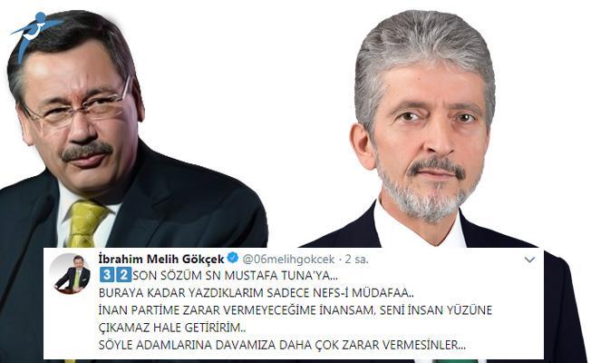 Melih Gökçek'ten, Mustafa Tuna'ya: Seni İnsan Yüzüne Çıkamaz Hale Getiririm