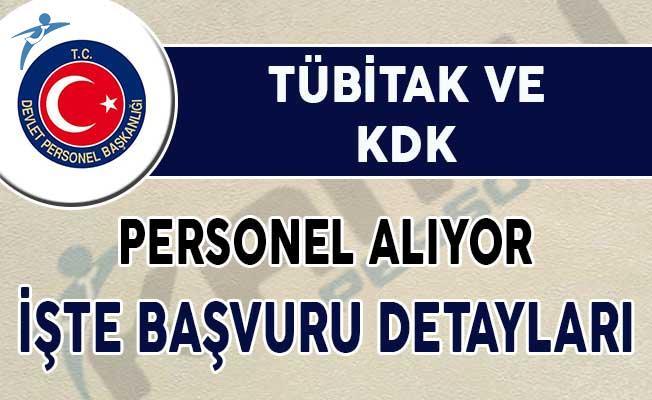 TÜBİTAK ve KDK Personel Alımı Yapıyor !