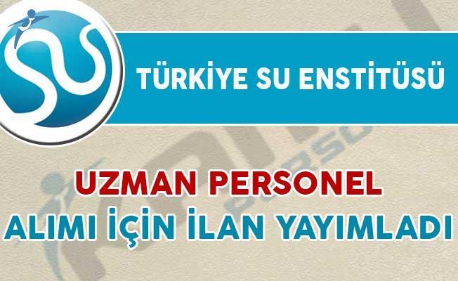 Türkiye Su Enstitüsü Uzman Personel Alımı Yapacak