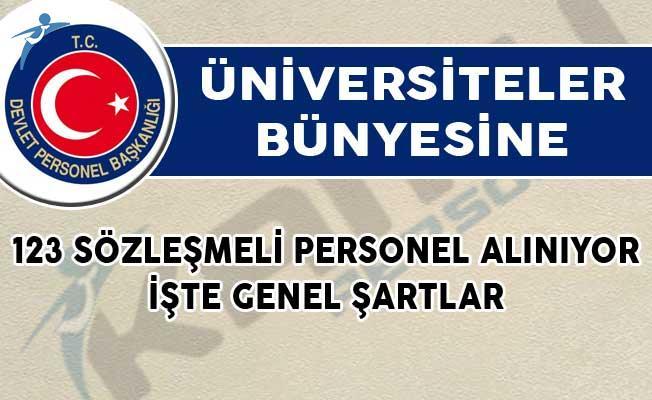Üniversiteler Bünyesine 123 Sözleşmeli Personel Alımı Yapılıyor! İşte Genel Şartlar