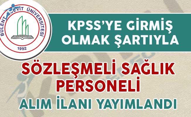 Zonguldak Bülent Ecevit Üniversitesi Sözleşmeli Sağlık Personeli Alım İlanı