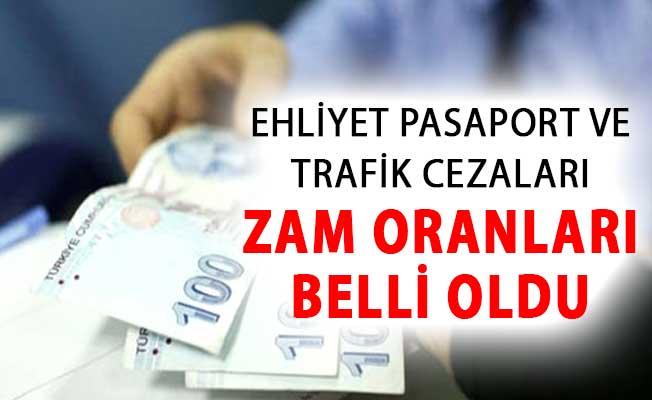 2019 Vergi Harç ve MTV Zam Oranları Belli Oldu ! Ehliyet Pasaport ve Trafik Cezaları Zam Oranları