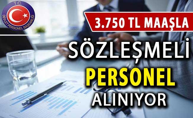 3 Bin 750 TL Maaşla Sözleşmeli Personel Alımı Yapılıyor