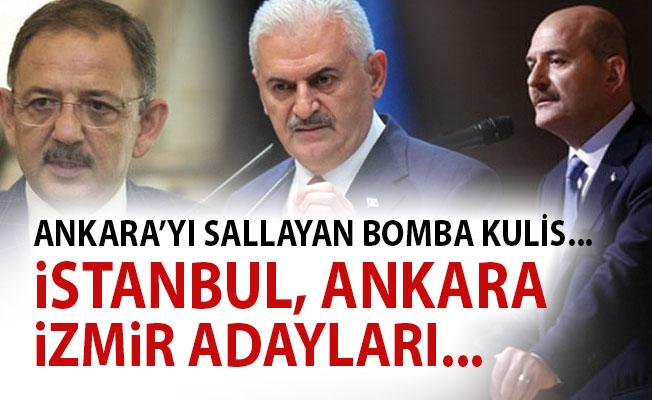 Ak Parti İstanbul Adayı Binali Yıldırım, Ankara Mehmet Özhaseki, İzmir Adayı Süleyman Soylu