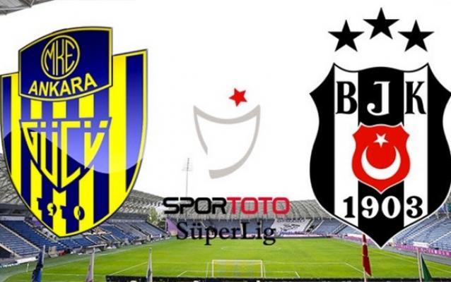 Ankaragücü Beşiktaş maçı 1-4 Sona erdi