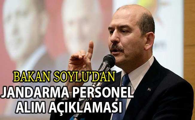 Bakan Soylu'dan Jandarma Genel Komutanlığı'na Yeni Personel Alım Açıklaması