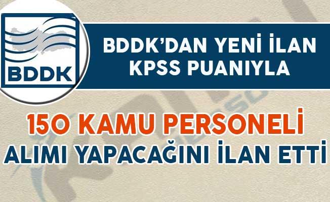 BDDK 150 Kamu Personeli Alımı İçin DPB'de İlan Yayımladı