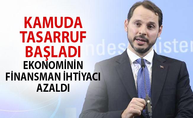 Berat Albayrak: Kamuda Tasarruf Başladı, Ekonominin Finansman İhtiyacı Azaldı!