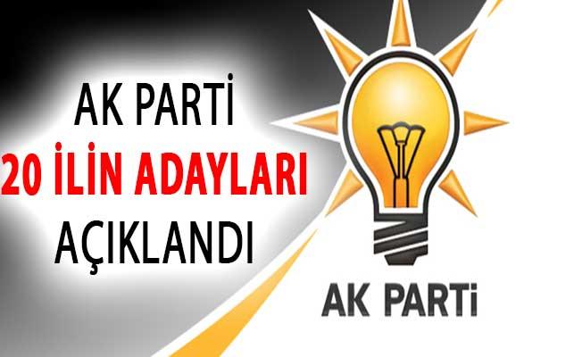 Cumhurbaşkanı Erdoğan 20 İlin Adaylarını Açıkladı ! AK Parti Açıklanan Belediye Başkan Adayları Listesi