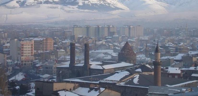 Erzurum'da Dondurucu Soğuk: -10 Derece !