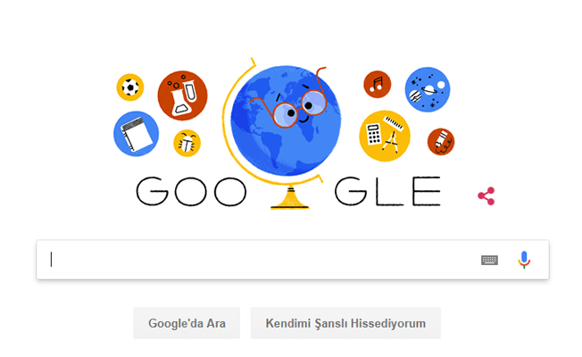 Google'den Jest! 24 Kasım Öğretmenler Gününü Doodle Yaptı!