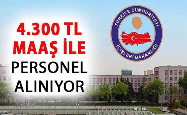 İçişleri Bakanlığı 4 Bin 300 TL Maaşla Kamu Personeli Alımı Başvuruları Başladı !