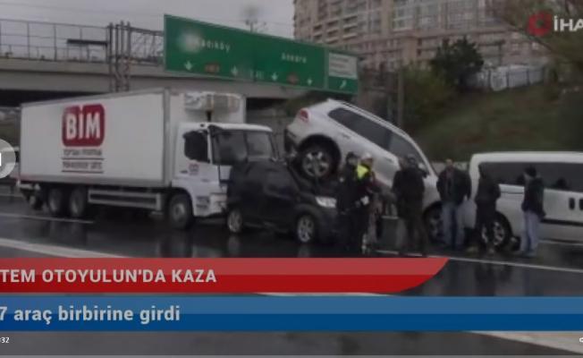 İstanbul TEM'de son dakika zincirleme kaza- Trafik kilit