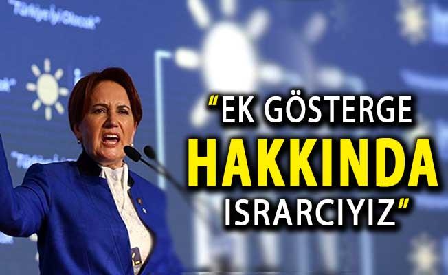 İYİ Parti Lideri Akşener'den 3600 Ek Gösterge Açıklaması