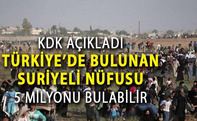 KDK Raporu Açıklandı: 10 Yıl Sonra Türkiye'de Suriyeli Nüfusu 5 Milyonu Bulabilir