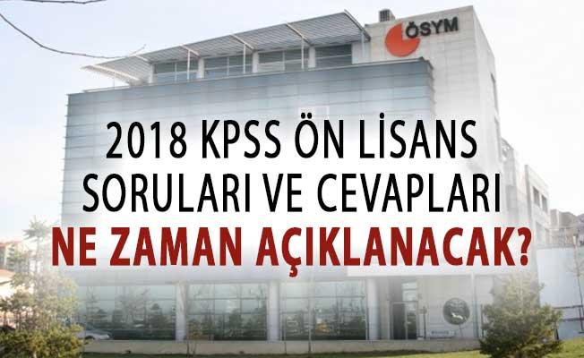 KPSS Ön Lisans Sınavı Soruları ve Cevaplarının Açıklanması Bekleniyor !