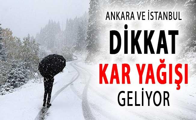 Meteoroloji'den İstanbul ve Ankara İçin Bir Kar Uyarısı Daha !