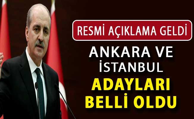 Numan Kurtulmuş Açıkladı: AK Parti İstanbul ve Ankara Adayları Belirlendi