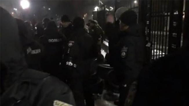 Rusya Büyükelçiliği- Polis ve Ulusal Muhafızları kordon altına aldı