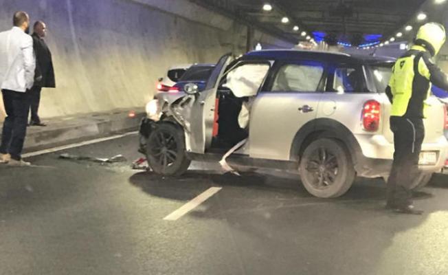 SON DAKİKA...Avrasya Tüneli'nde kaza