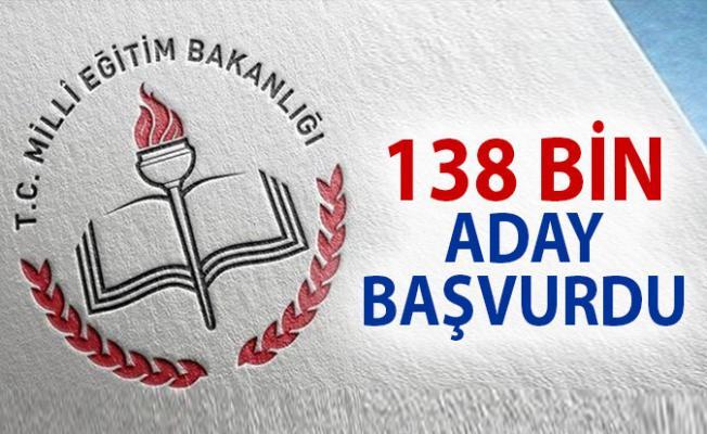 Sözleşmeli Öğretmenlik Başvurusu sayısı 138 bin aday oldu. Sözlü sınava 60 bin aday alınacak