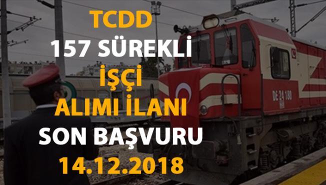 TCDD 157 sürekli işçi alımı yapacak