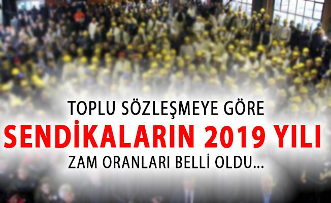 Toplu Sözleşmeye Göre Sendikaların 2019 Yılı Zam Oranları!