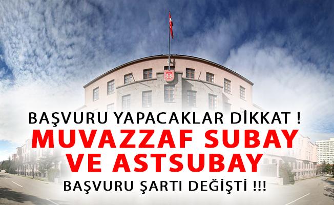TSK Muvazzaf Subay ve Astsubay Alımı Başvuru Şartında Değişiklik Yaptı!