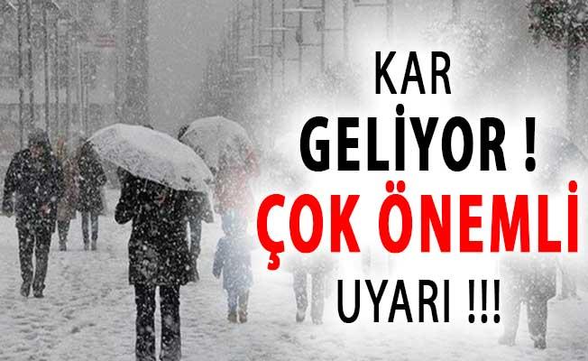 Türkiye Kar ve Yağmura Teslim Oluyor ! Meteoroloji'den Çok Önemli Uyarı