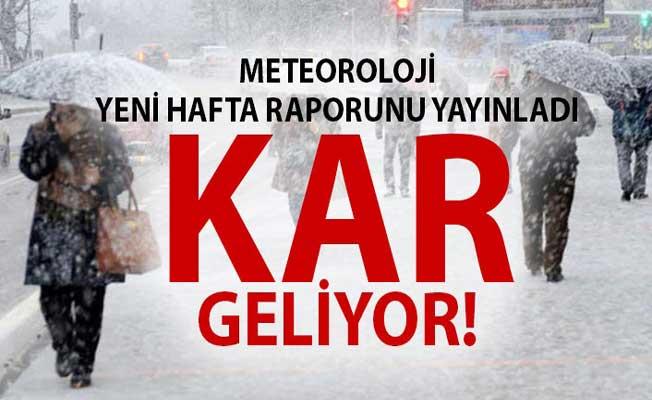Yeni Hafta İçin Meteorolojiden Kar Uyarısı! Hangi Şehirlerde Kar Yağışı Bekleniyor?