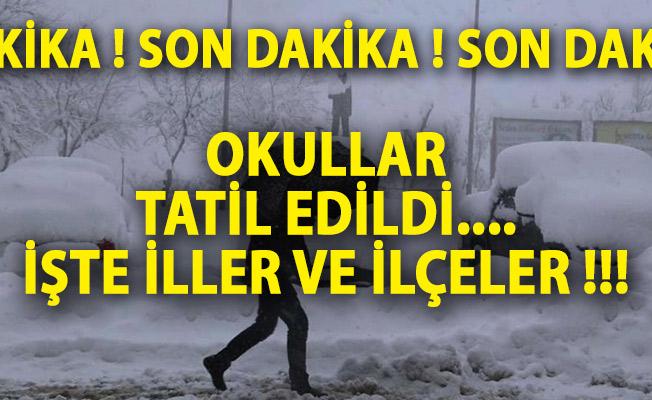 26 Aralık 2018 İstanbul'da Okullar Tatil Mi? Ankara, Kırşehir, Samsun, Çorum, Çankırı, Bolu, Balıkesir'de Kar Tatili