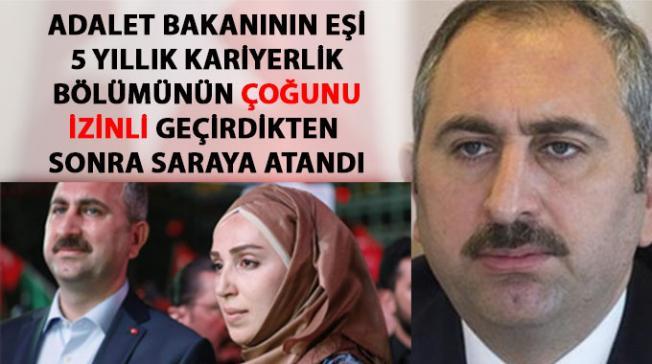 Adalet Bakanının eşi, Cumhurbaşkanlığı İdari İşler Başkanlığına atandı