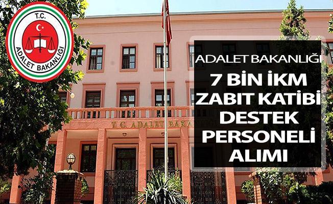 Adalet Bakanlığı 7 Bin İKM - Zabıt Katibi - Destek Personeli Alımı Genel Şartları