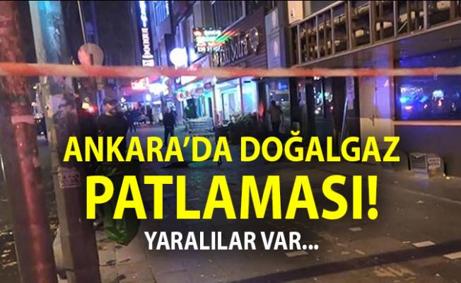 Ankara'da Patlama Son Dakika ! Necatibey Caddesinde Doğalgaz Patlaması