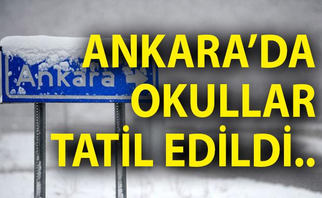 Ankara'da Yarın Okullar Tatil Edildi! Ankara'da Kar Tatili! Ankara'da Tatil Olan Okullar
