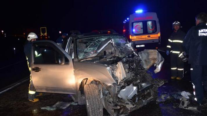 Antalya Akseki'de meydana gelen trafik kazasında1 kişi öldü