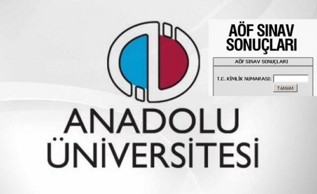 AÖF Sınav Sonuçları açıklandı - Anadolu Üniversitesi AÖF Güz Dönemi Sınav Sonuçları Açıklandı