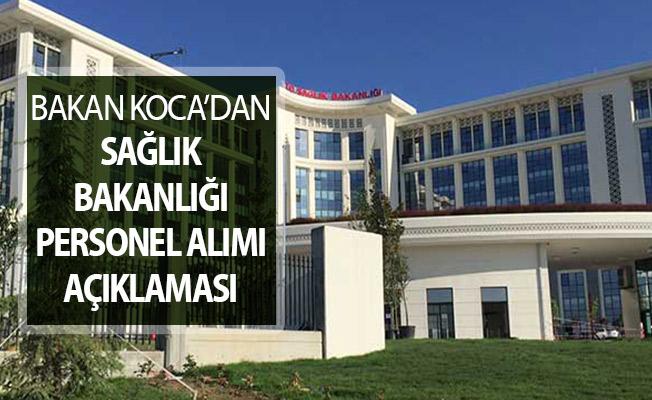 Bakan Koca'dan Sağlık Bakanlığı Personel Alımı Kadro Dağılımını ve Tarihini Açıkladı